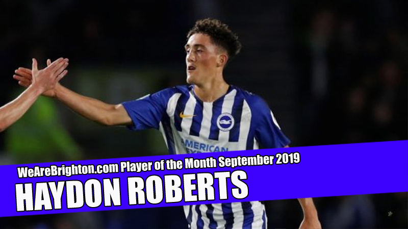 Haydon Roberts voted WeAreBrighton.com Player of the Month for September 2019