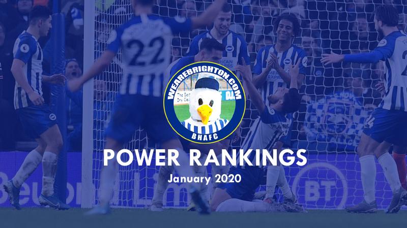 WAB's Brighton Power Rankings: January 2020
